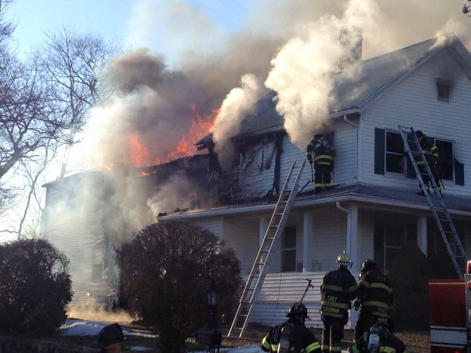 3/24/2014 - Squad 1 responded to Derby for a working structure fire